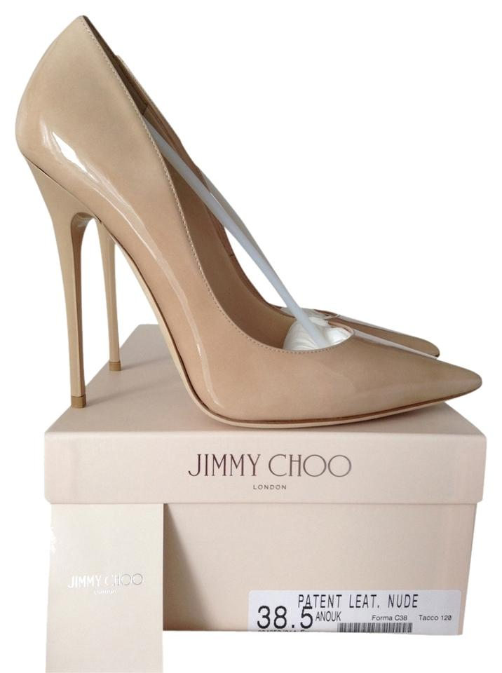44817cfecd75 Jimmy Choo Nude Anouk 120 Patent Leather 38.5 Pumps Size US 8.5 ...