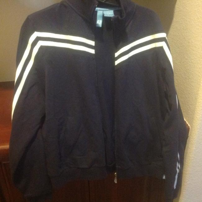 Item - Black with White Strip On Arms Long Sleeve The Arm Sweatshirt Activewear Outerwear Size 14 (L, 34)