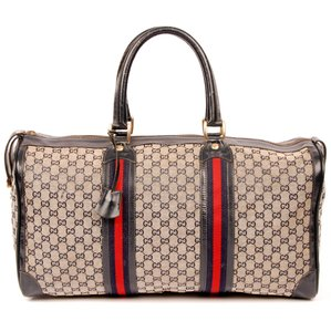 176d6358001 Gucci Vintage Duffle Vintage Monogram Canvas Totes Blue Travel Bag