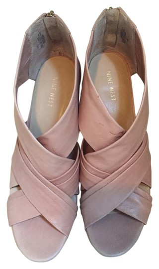 Nine West light beige Wedges