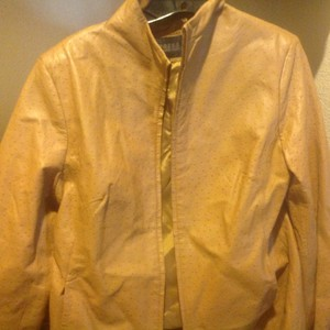 Express Beauty Like New Long Sleee Color Tan - textured leather Jacket