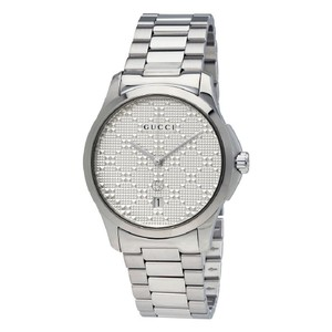 Gucci G-timeless Date Silver Unisex Watch