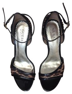 Guess By Marciano Patent leather and leopard print Sandals