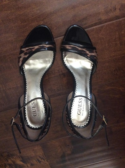 Guess By Marciano Patent leather and leopard print Sandals Image 5