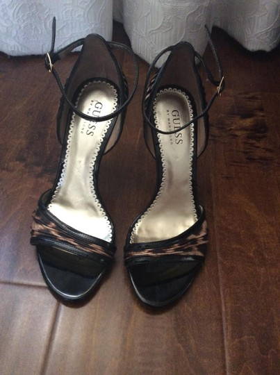 Guess By Marciano Patent leather and leopard print Sandals Image 8