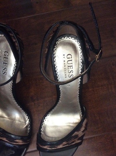 Guess By Marciano Patent leather and leopard print Sandals Image 9