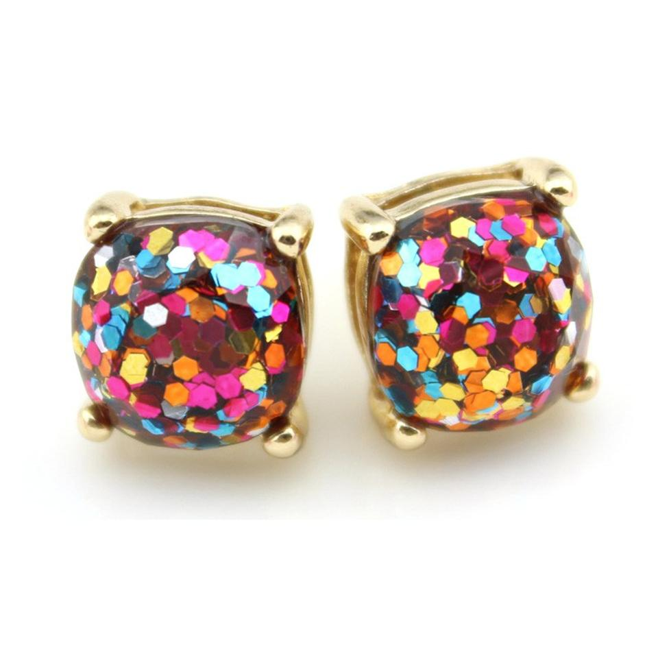 exquisite crystal earring stud colored multi item cuicanduomu wholesale rhinestone sparkling bow