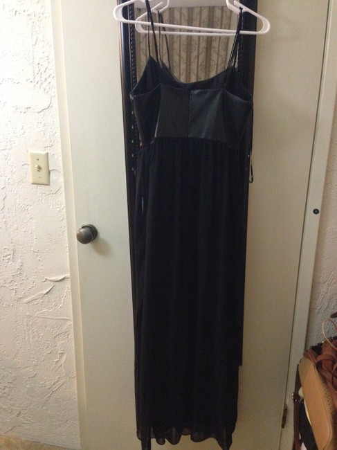 Black Maxi Dress by Forever 21 Faux Leather 21 Maxi Leather