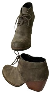Kork-Ease Ankle Lace Up Chunky Grey Boots