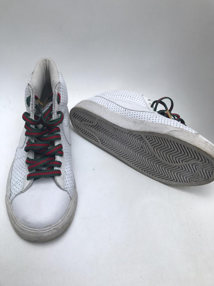 the best attitude a8e69 febc4 Nike Gucci Blazers Leather Perforated White Athletic Image 3. 1234