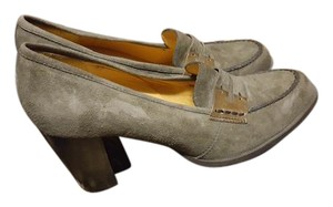 Hogan Suede Business And Green Brown Pumps