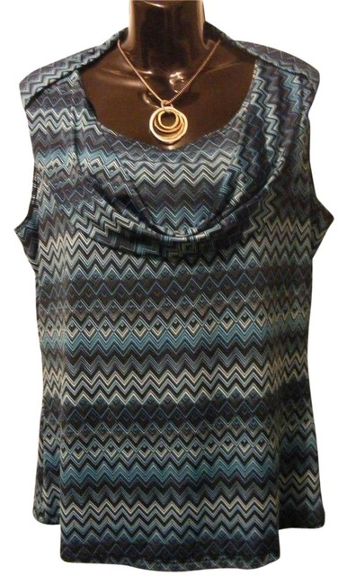 Preload https://item4.tradesy.com/images/jennie-and-marlis-groovy-chevron-top-turquoise-blue-2192773-0-1.jpg?width=400&height=650