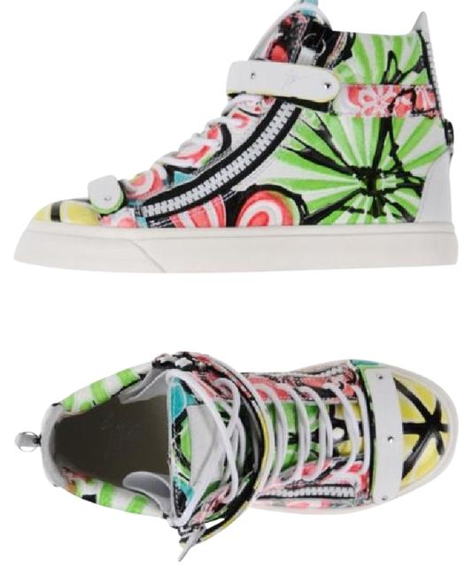 Item - White Green Red Yellow Black Multi New Sneakers Size EU 40 (Approx. US 10) Regular (M, B)