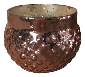 4 Dozen Mercury Array Glass Votive Candleholders In Rose Gold