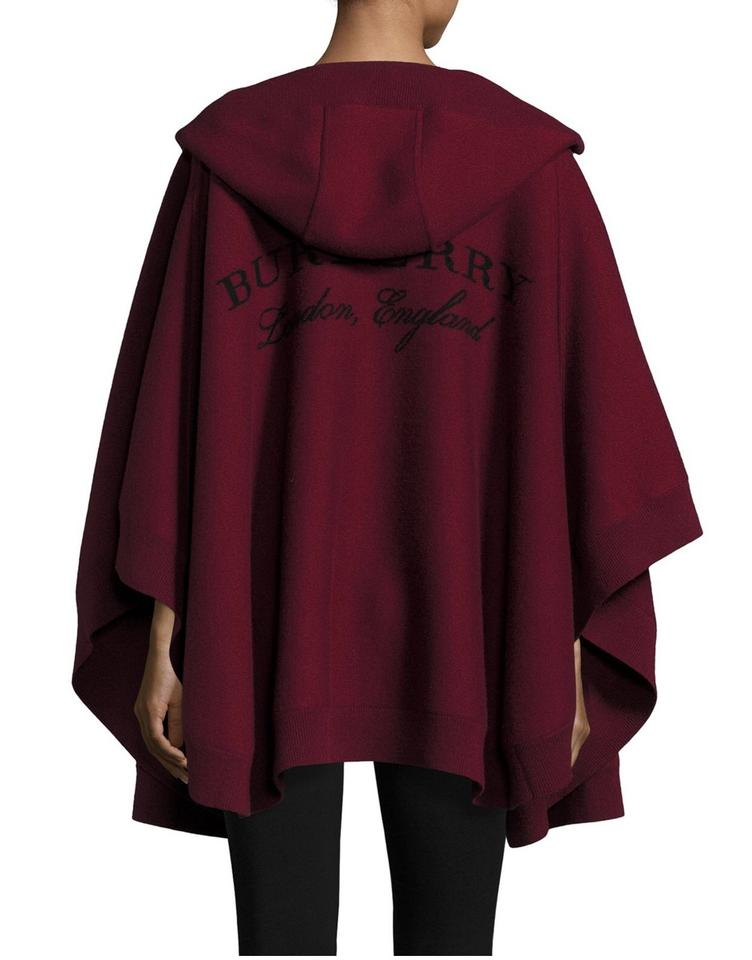 Fabriksnye Burberry Deep Red Hooded Carla Poncho/Cape Size OS (one size BG-72