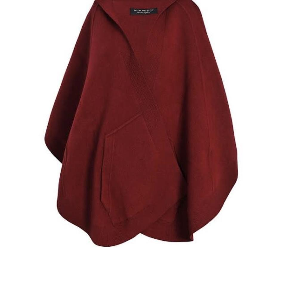 Efterstræbte Burberry Deep Red Hooded Carla Poncho/Cape Size OS (one size GL-65