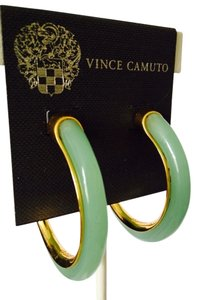 Vince Camuto Jade (Simulated) & Gold-Tone Large Hoop Earrings