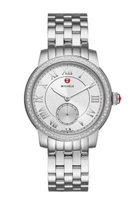 Michele $1800 NWT AUTHENTIC MICHELE Harbor Silver Dial Watch MWW28A000001