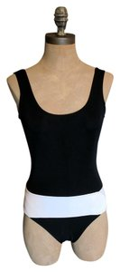 Chanel Chanel black & white one piece open back swimsuit size 38