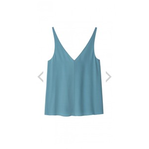 Tibi Silk Top Light Blue