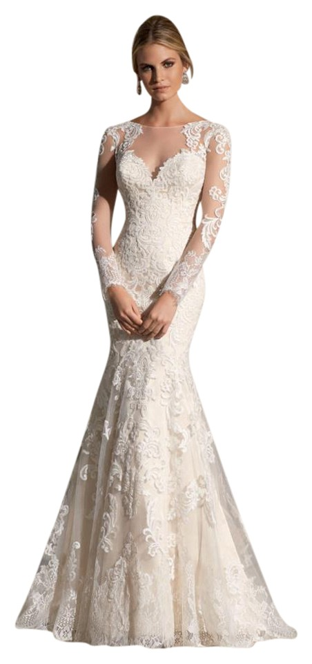 Mori Lee Ivory Lace 2725 Vintage Wedding Dress Size 6 (S) - Tradesy