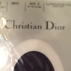 Dior Christian Dior Vintage Sandalfoot Navy Hosiery New in the Package NOS