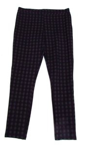Joie Checked Checkered Casual Comfortable Black/Charcoal Leggings