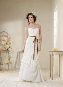 Alfred Angelo White Lace 8523 Retro Wedding Dress Size 14 (L)