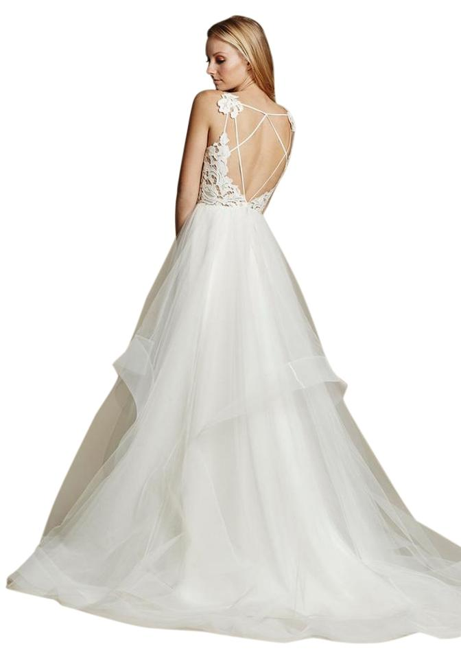 575508d2308a Hayley Paige Ivory Tulle and Lace Halo By Blush 1600 Modern Wedding Dress