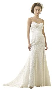 Alfred Angelo Ivory Lace 8528 Destination Wedding Dress Size 6 (S)