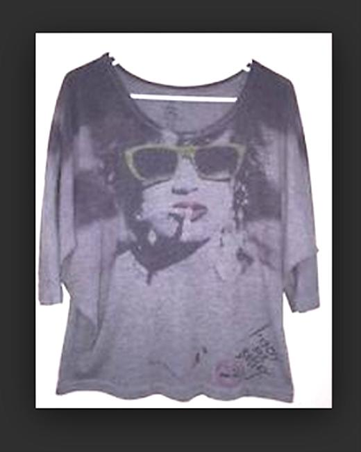 Betsey Johnson Smoking No Smoking Longsleeve T Shirt grey
