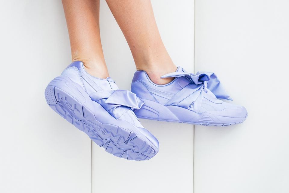 new style 32ba8 154b7 FENTY PUMA by Rihanna Sweet Lavender Women's Satin Bow Sneakers Size US 7  Regular (M, B) 37% off retail