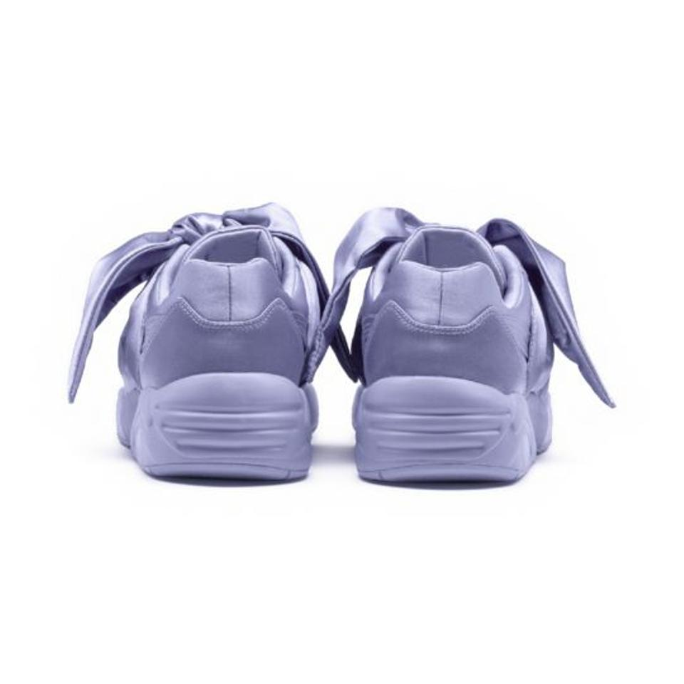 73b649fcace FENTY PUMA by Rihanna Sweet Lavender Women s Satin Bow Sneakers ...