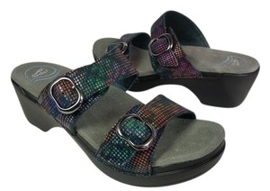 Dansko black/ multi Sandals