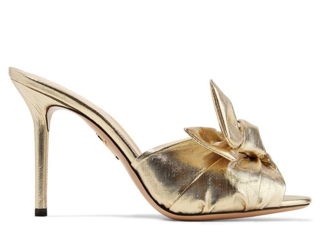 Item - Gold Unworn Lola Mules with Twisted Front Sandals Size EU 36.5 (Approx. US 6.5) Regular (M, B)