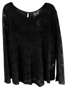 Moon Collection Lace Top black