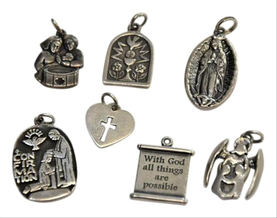 James Avery Sterling Silver Lot Of 7 Religious Theme Charm