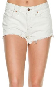 Free People Denim Cut Off Shorts White