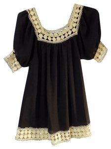 Bizz Princess short dress black & gold on Tradesy