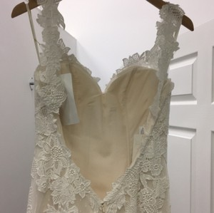 Casablanca Champagne Ivory Lace Bl214 Destination Dress Size 4 (S)