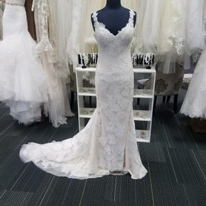 Casablanca Champagne Ivory Lace Bl214 Destination Wedding Dress Size 4 (S)