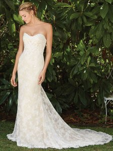 Casablanca Ivory Lace 2281 Wedding Dress Size 14 L
