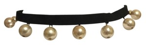 Other Necklace; Choker--Handcrafted Black Grosgrain RIbbon & Pearls [ Roxanne Anjou Closet ]