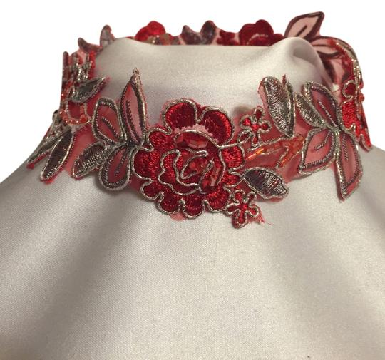 Other Handcrafted Red Lace Embellished Choker [ Roxanne Anjou Closet ]
