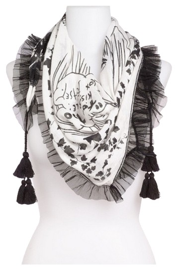 Betsey Johnson Betsey Johnson Too Too Diamond Tassel Scarf