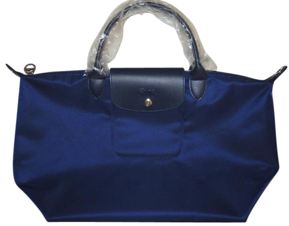 Longchamp Pliage Neo Nylon Le Medium Tote In Navy
