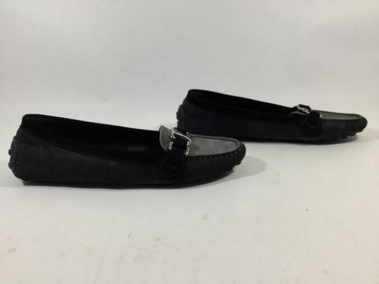 Louis Vuitton Navy Blue And Grey Flats