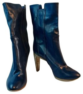 CoSTUME NATIONAL Blue Leather Boots