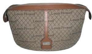 Louis Feraud Monogram Logo Cosmetic/travel Brown Clutch