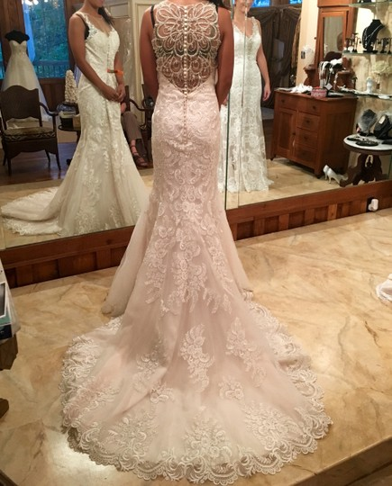 Mori Lee Ivory Lace And Satin Champagne 2876 Formal